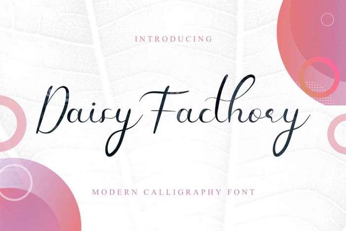 Daisy Facthory Font poster
