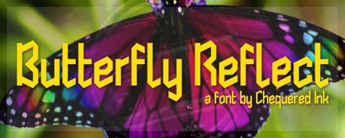 Butterfly Reflect Font poster