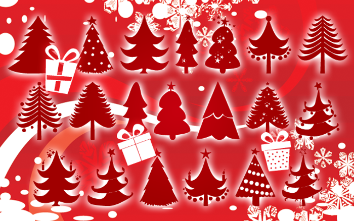 Christmas Trees Font poster