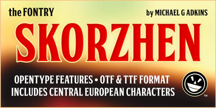 FTY SKORZHEN NCV Font poster