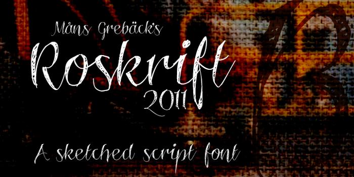 Roskrift Font poster