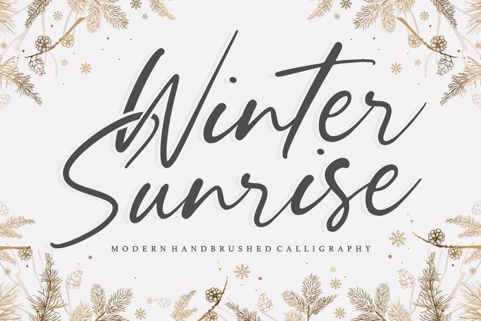 Winter Sunrise Font poster