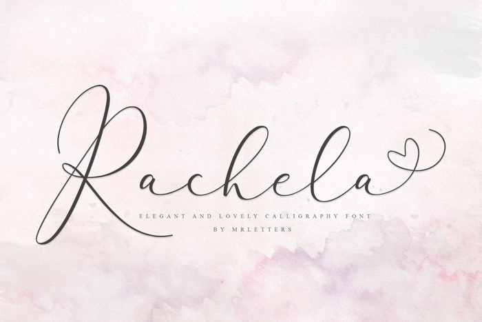 Rachela Bold Font poster