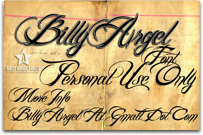 Billy Argel Font poster