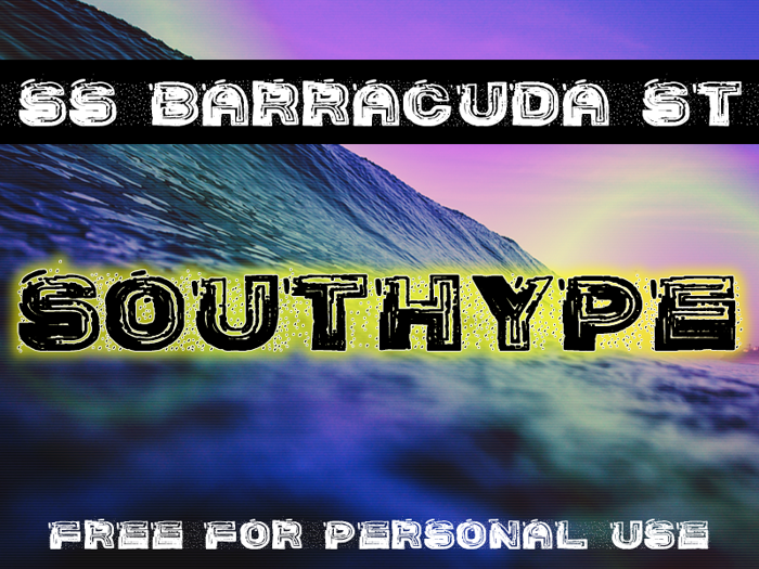 SS Barracuda St Font poster