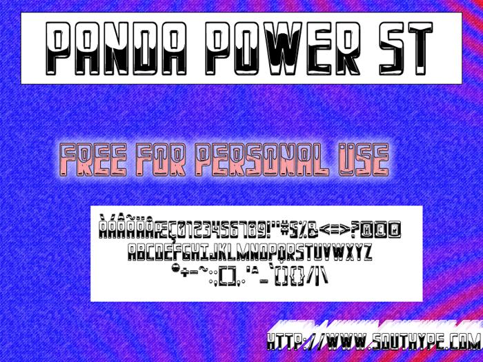 Panda Power St Font poster