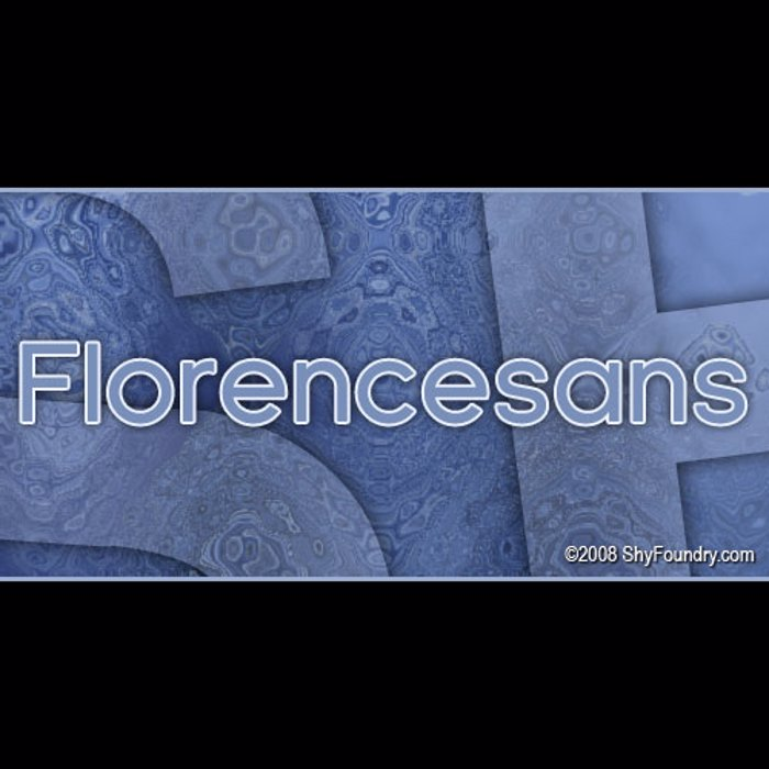 SF Florencesans Font poster