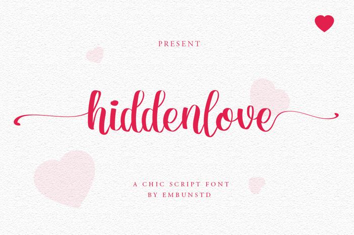 Hiddenlove Font poster