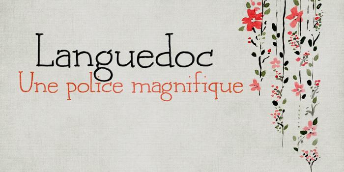 DK Languedoc Font poster