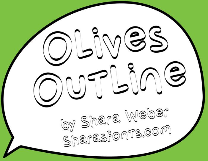 Olives Outline Font poster