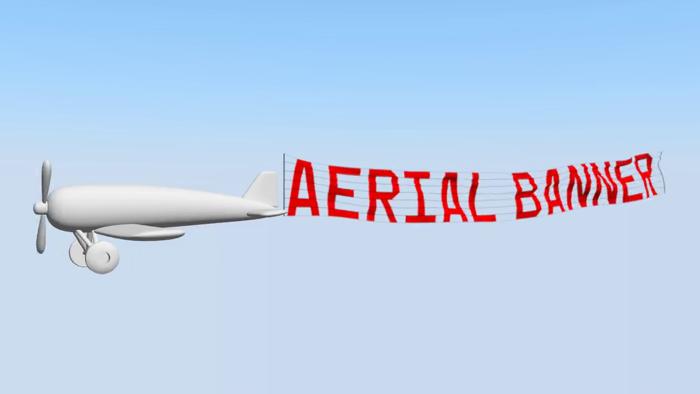 Aerial Banner Font poster