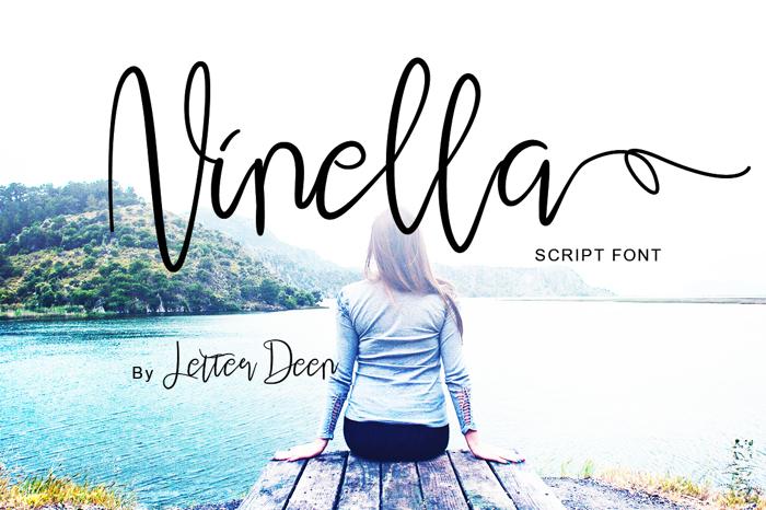 Ninella Font poster