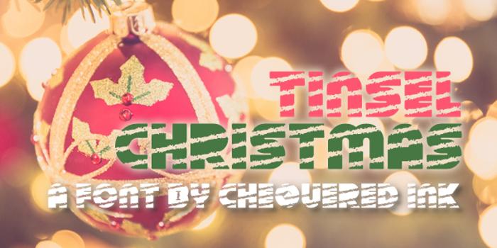 Tinsel Christmas Font poster