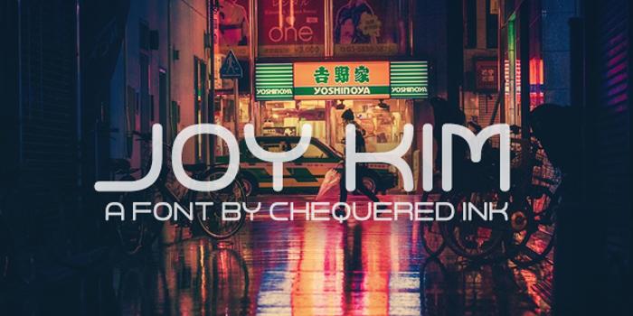 Joy Kim Font poster