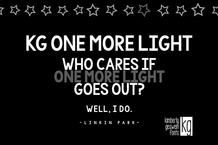 KG One More Light Font poster