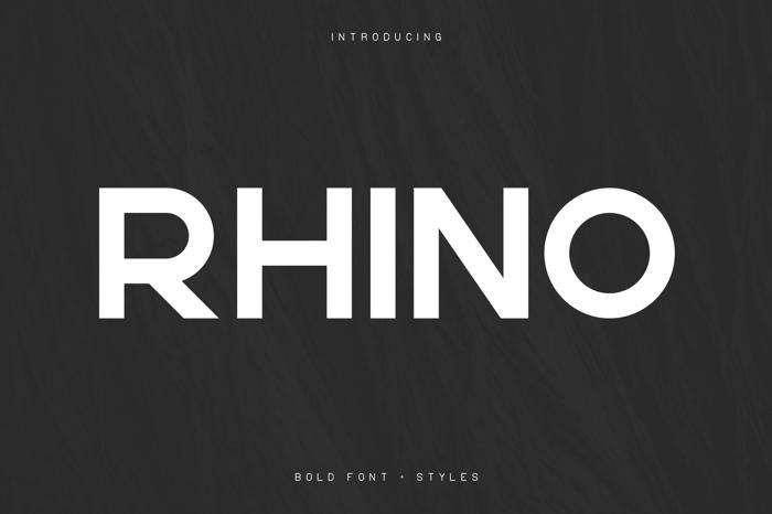 RHINO BOLD FONT poster