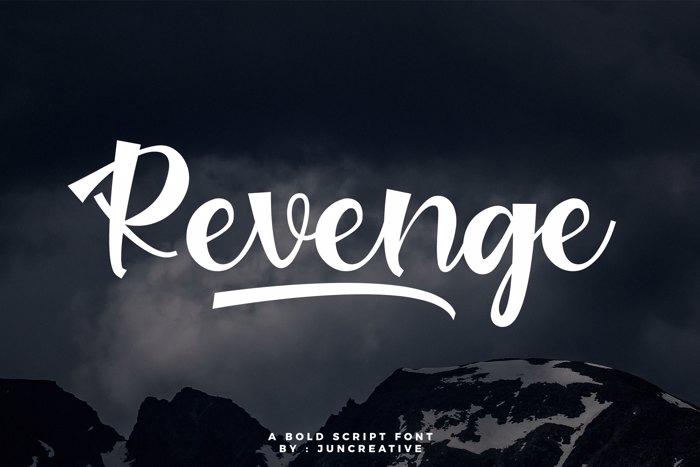 Revenge Font poster