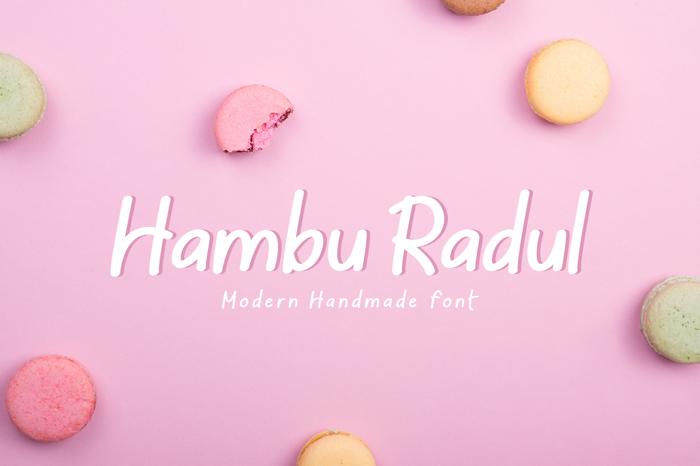 Hambu Radul Font poster