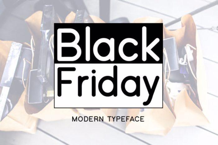 Black Friday Font poster