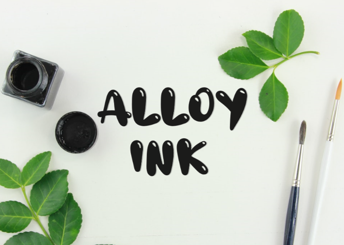 a Alloy Ink Font poster