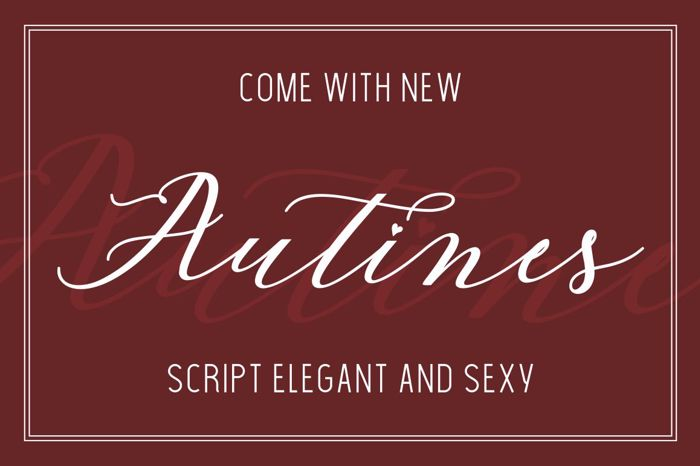 Autines Script Font poster