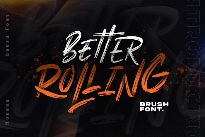 BETTER ROLLING Font poster