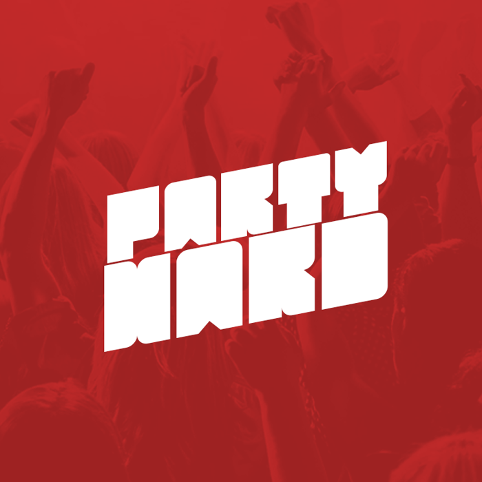 Party Hard Font poster