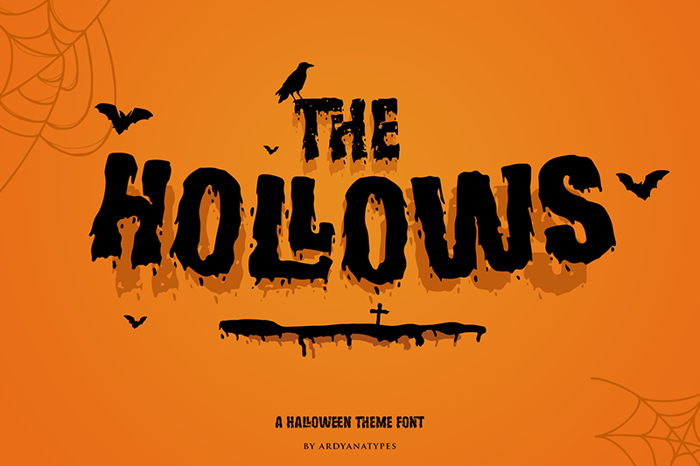 Hollows Font poster