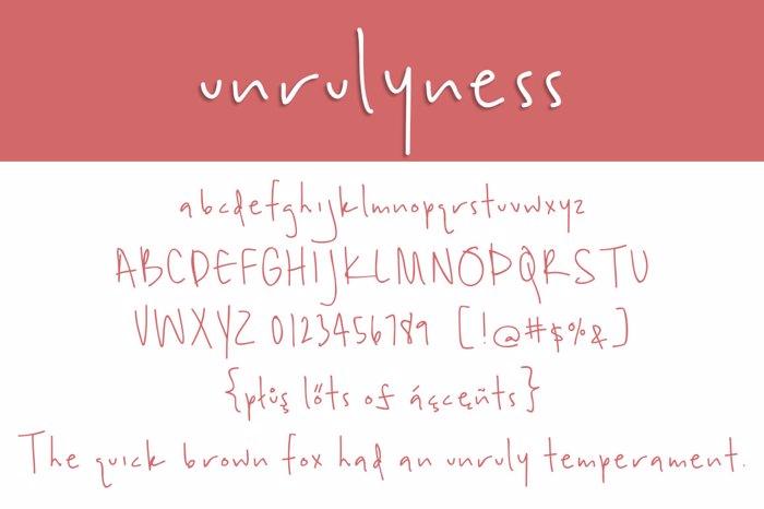 unrulyness Font poster