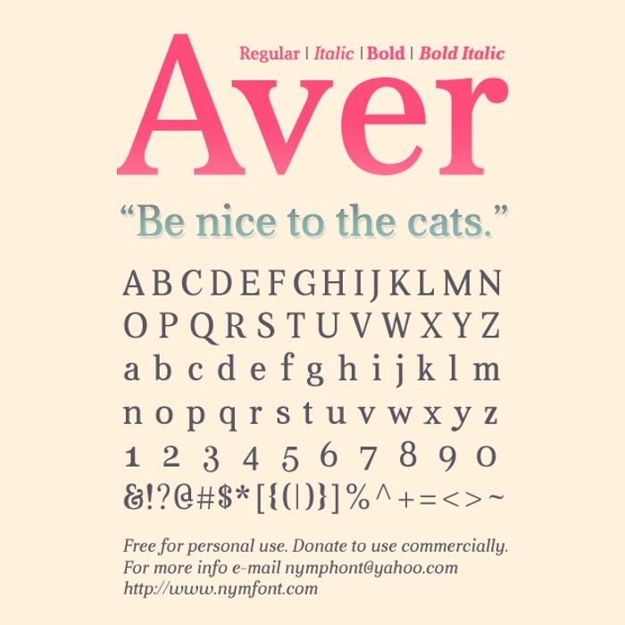 Aver Font poster