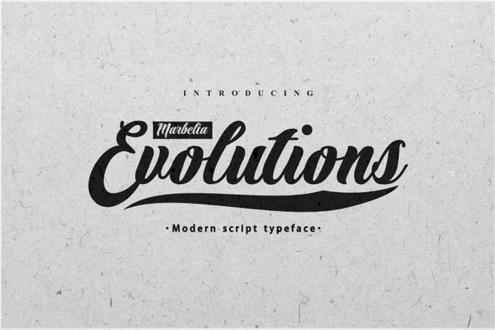 Marbelia Evolutions Font poster