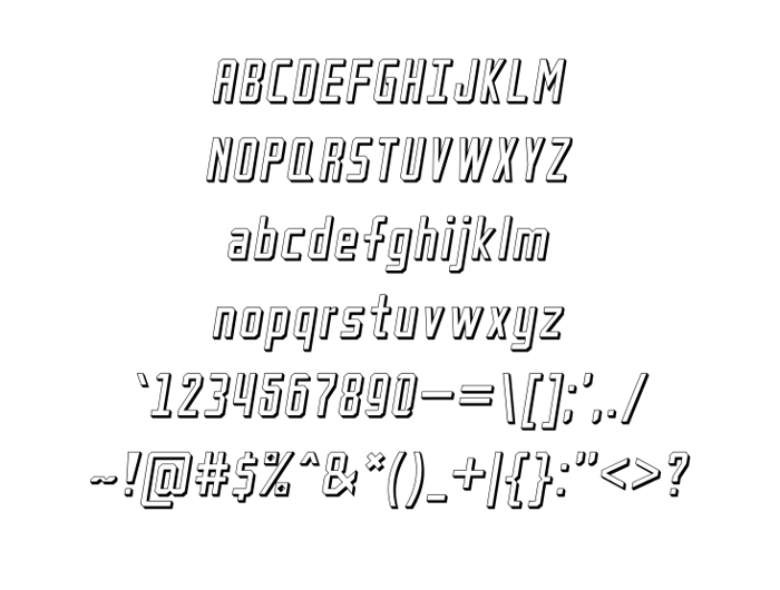 Petak Square Shadow Font poster