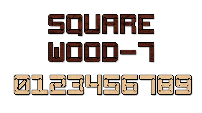 Square Wood-7 Font poster