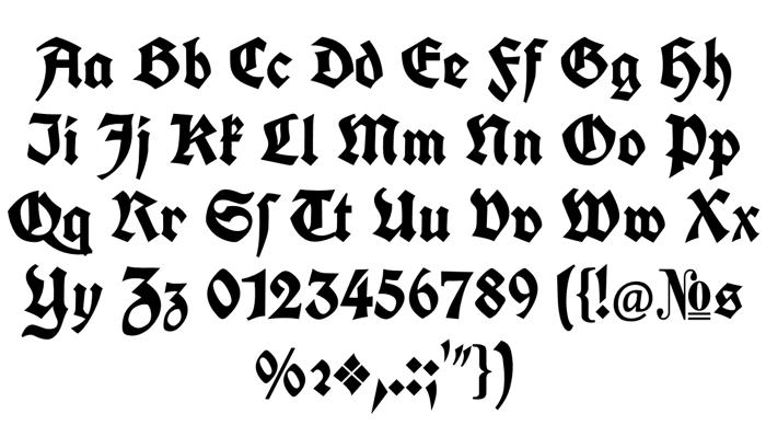 Koch Fette Deutsche Schrift Font poster