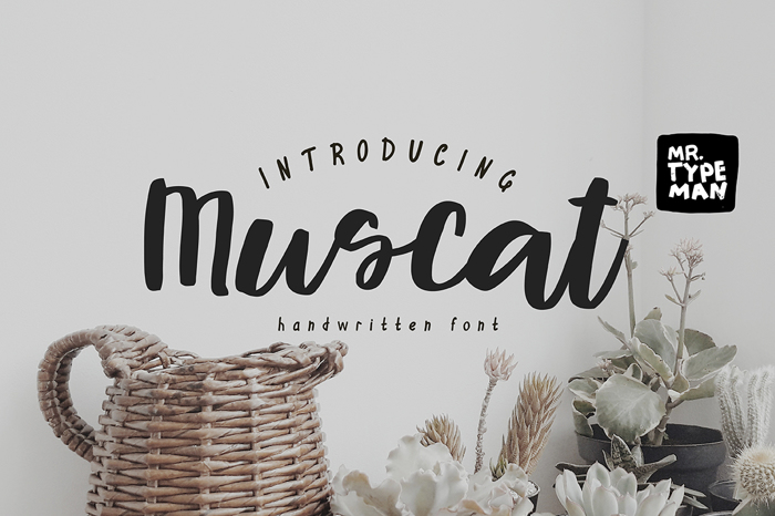 Muscat Font poster