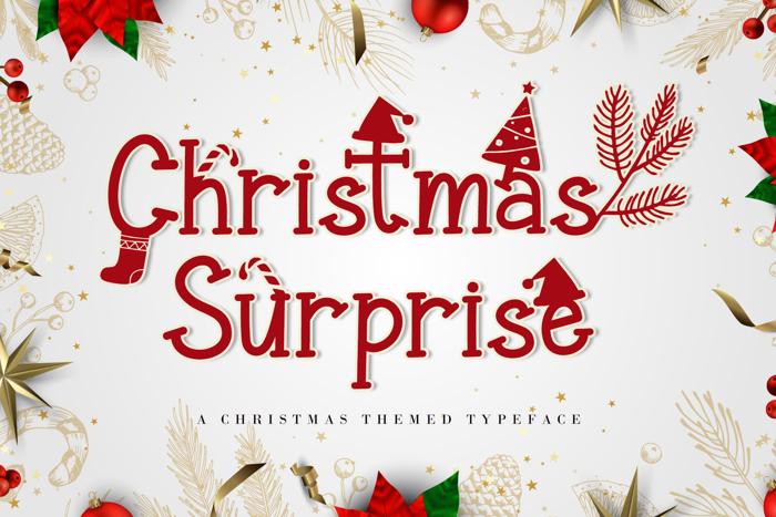 Christmas Surprise Font poster