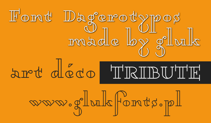 Dagerotypos Font poster