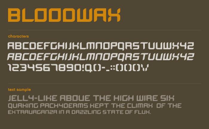BloodWax Font poster