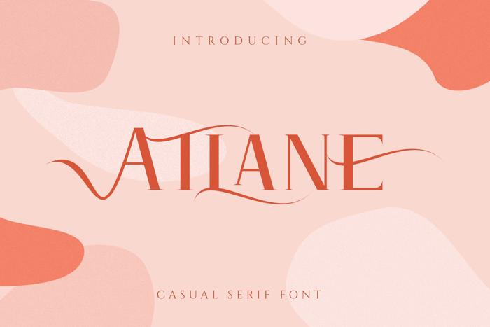 Atlane Font poster