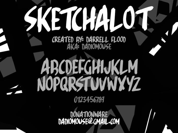 Sketchalot Font poster