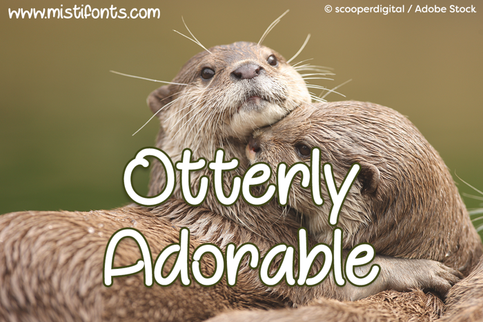 Otterly Adorable Font poster
