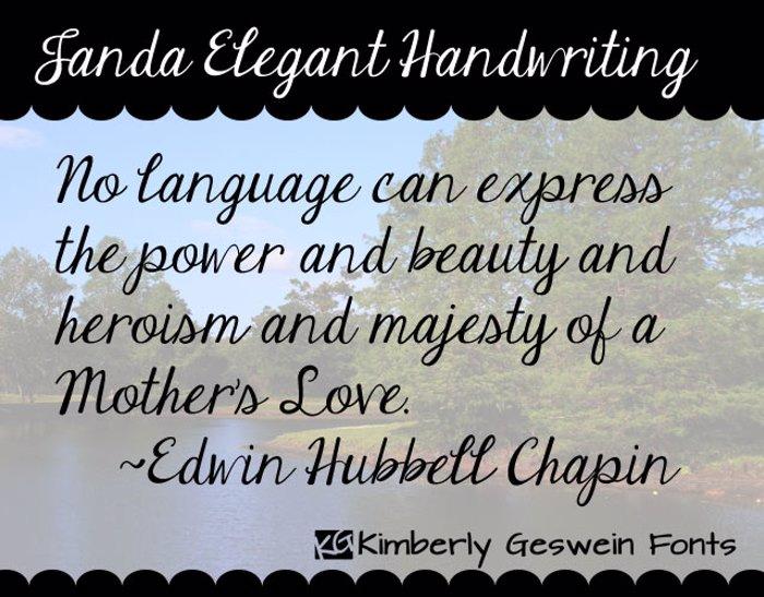 Janda Elegant Handwriting Font poster