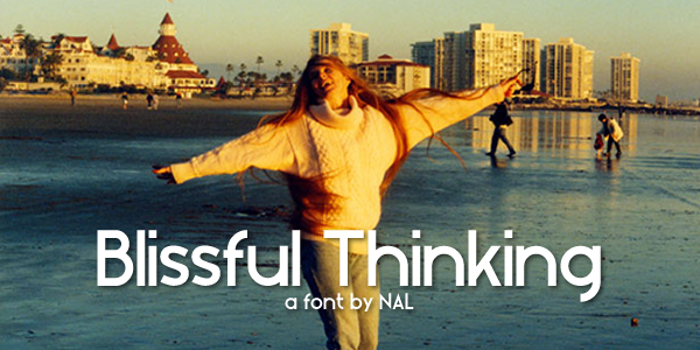Blissful Thinking Font poster