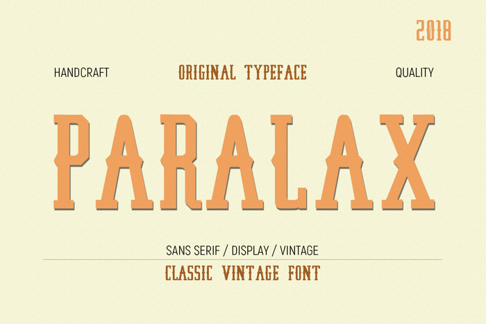 Paralaxdemo Font poster