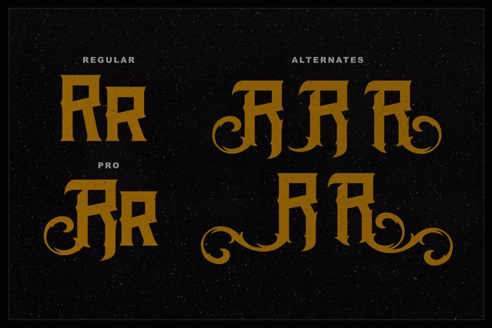 The Black Veil DEMO Font poster