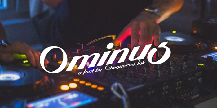 Ominus Font poster