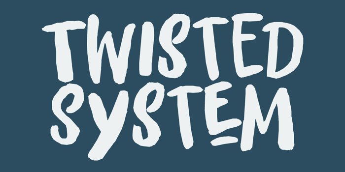 Twisted System DEMO Font poster