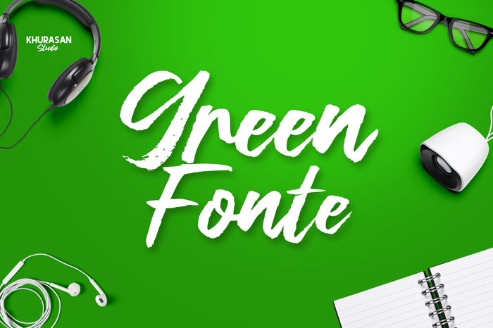 Green Fonte Font poster
