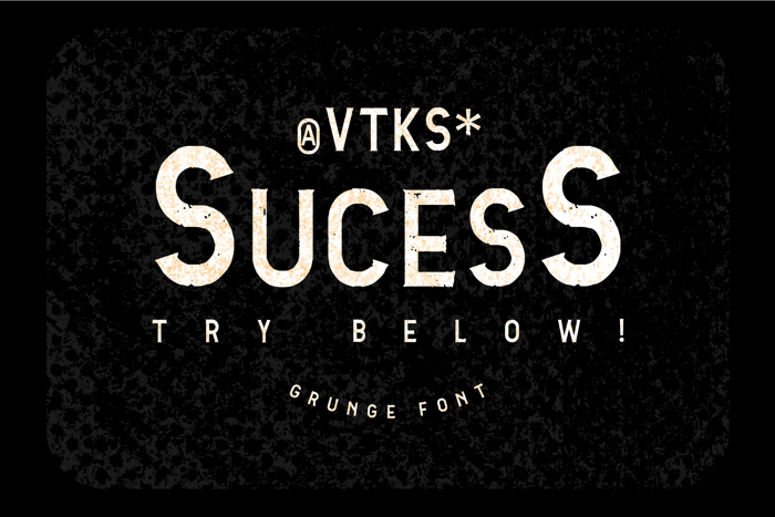 Vtks Sucess Font poster
