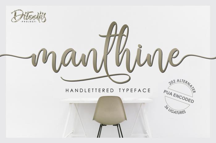 Manthine Font poster